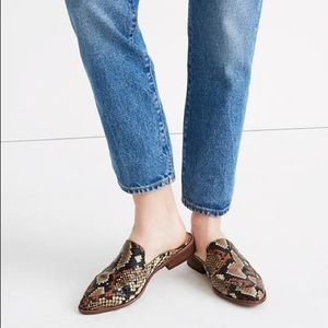 Madewell Frances Snakeskin Loafers